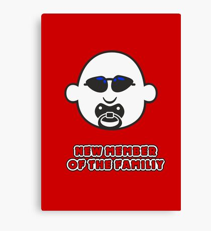Baby Gangsta Face VRS2 Canvas Print