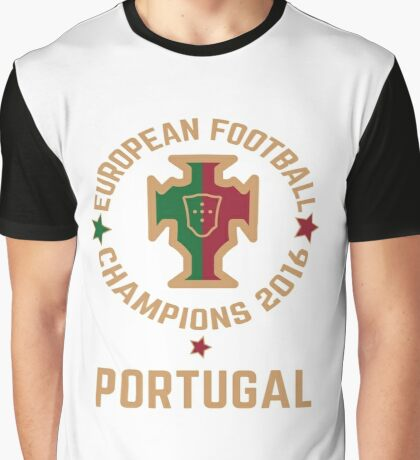 Portugal Euro 2016 Champions T-Shirts etc. ID-3 on White Graphic T-Shirt