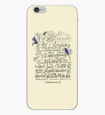 Philippians 4:6-7 : Design 1 iPhone Case