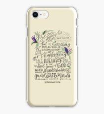 Philippians 4:6-7 : Design 1 iPhone Case/Skin