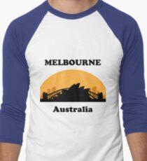 Sydney Tourist, Melbourne Clueless Men's Baseball ¾ T-Shirt