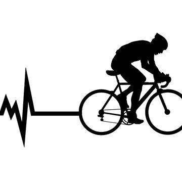 Radfahren Herzschlag Schwarz von BeyondEvolved