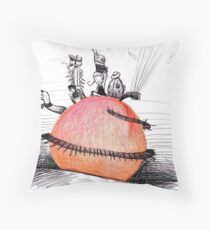 Not So Giant James and The Peach Throw Pillow
