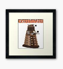 Dalek Exterminate! Framed Print