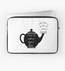 Victoria Schwab Quote, Walk to Tea Laptop Sleeve