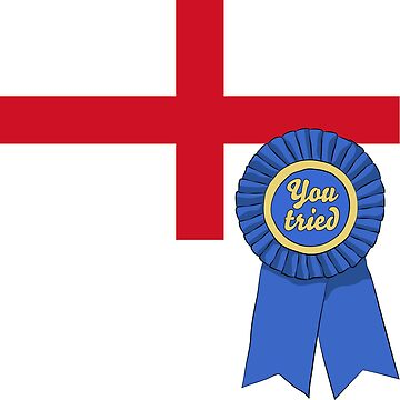 England You Tried Ribbon by WorkerNParasite