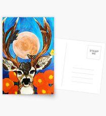 Ernte-Mond Postkarten