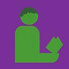 Hulking Gentleman Reads by Hafuboti