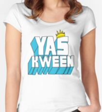 Yas Kween Women's Fitted Scoop T-Shirt