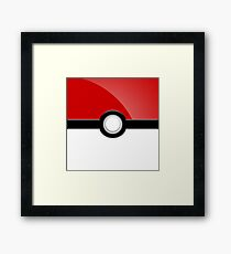 Poke´ Ball - Red Framed Print