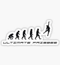 Frisbee evolution Sticker