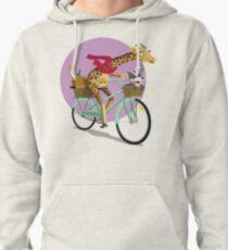Giraffe Bicycle Pullover Hoodie