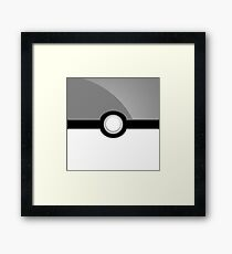 Poke´ Ball - Gray Framed Print