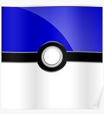 Poke´ Ball - Blue Poster