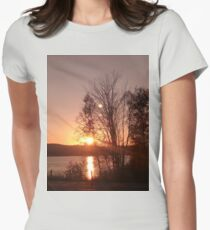 Sunset and trees Womens Fitted T-Shirt
