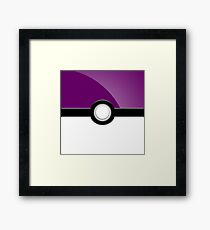 Poke´ Ball - Purple Framed Print