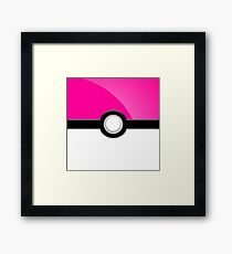 Poke´ Ball - Pink Framed Print