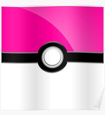 Poke´ Ball - Pink Poster