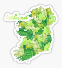 Aquarell Länder - Irland Sticker