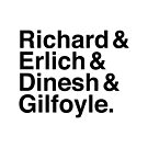 Silicon Valley - Richard & Erlich & Dinesh & Gilfoyle by PolydsignStudio