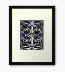 Steel Heart, Double Masg by Upside-Down artist L. R. Emerson II Framed Print