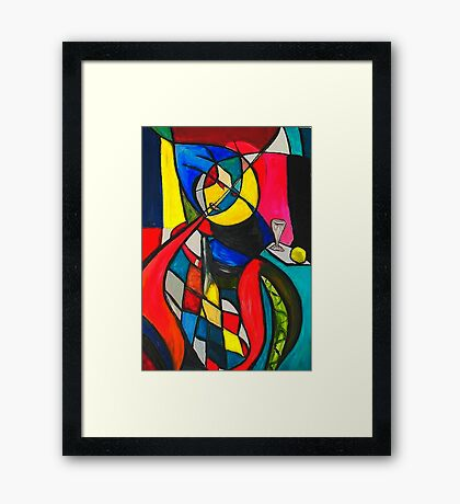 Within the Circle Framed Print