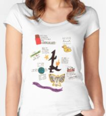 The Infernal Devices collage Women's Fitted Scoop T-Shirt