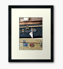 Vintage Style Luggage Framed Print