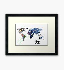 World Map of Koi Framed Print