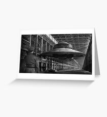German flying saucer WW2 Greeting Card