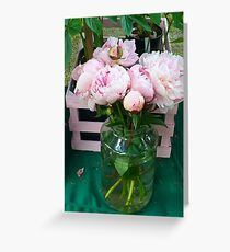 Pink Peonies 2 Greeting Card