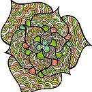 Detailed Flower Line Art by Pip Gerard