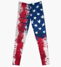 American Flag - Grunge Leggings