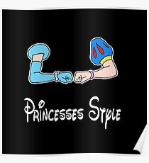 Bro-fist Princesses Style Poster