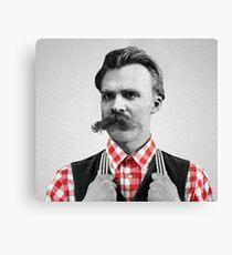 Hipster Nietzsche Canvas Print