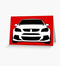 HSV VF GTS Clubsport Front View Design | Tee Shirt / Sticker for Holden Enthusiasts Greeting Card