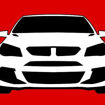 HSV VF GTS Clubsport Front View Design | Tee Shirt / Sticker for Holden Enthusiasts by TheStickerLab
