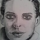 Charcoal portrait young woman by JayJay70