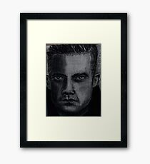 Charcoal portrait man Framed Print