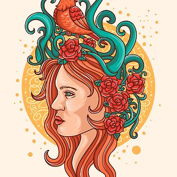 chica floral de motymotymoty