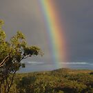 Rainbow in the ranges.  by Liz Worth