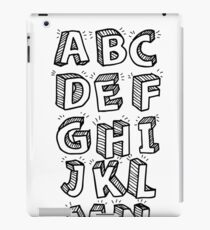 Alphabet iPad Case/Skin