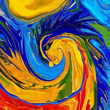 Elemental Dragon by bluegoddess