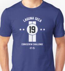Laguna Seca - White Slim Fit T-Shirt