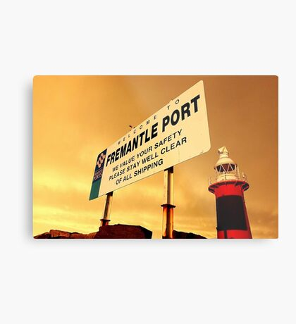 Welcome To Fremantle Metal Print