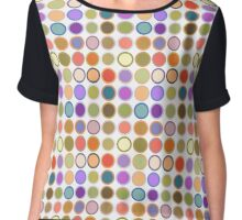 Mid-Century Modern Dots - multi colors  Chiffon Top