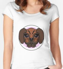 DogFace Women's Fitted Scoop T-Shirt