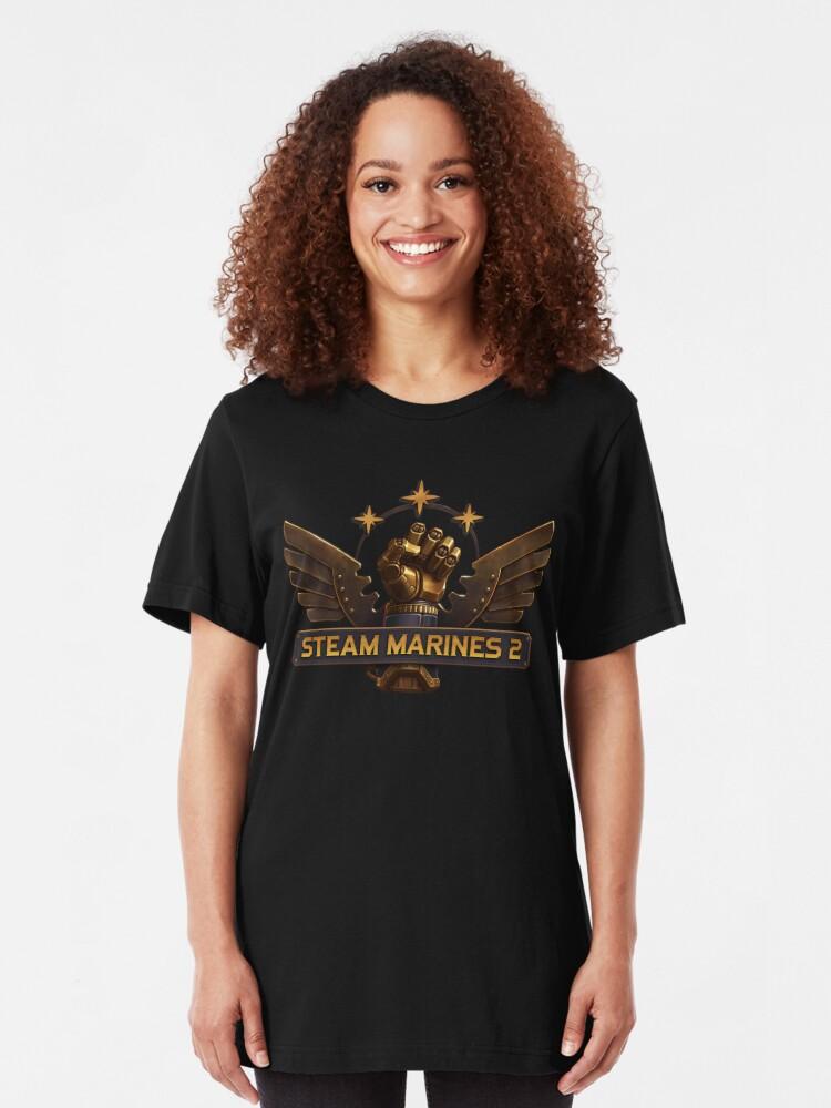 Alternate view of Steam Marines 2 - Logo Slim Fit T-Shirt