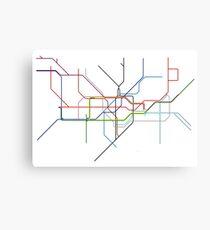 Minimal Tube Map Canvas Print