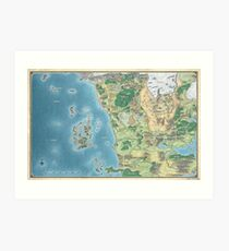 Map of the sword coast Art Print